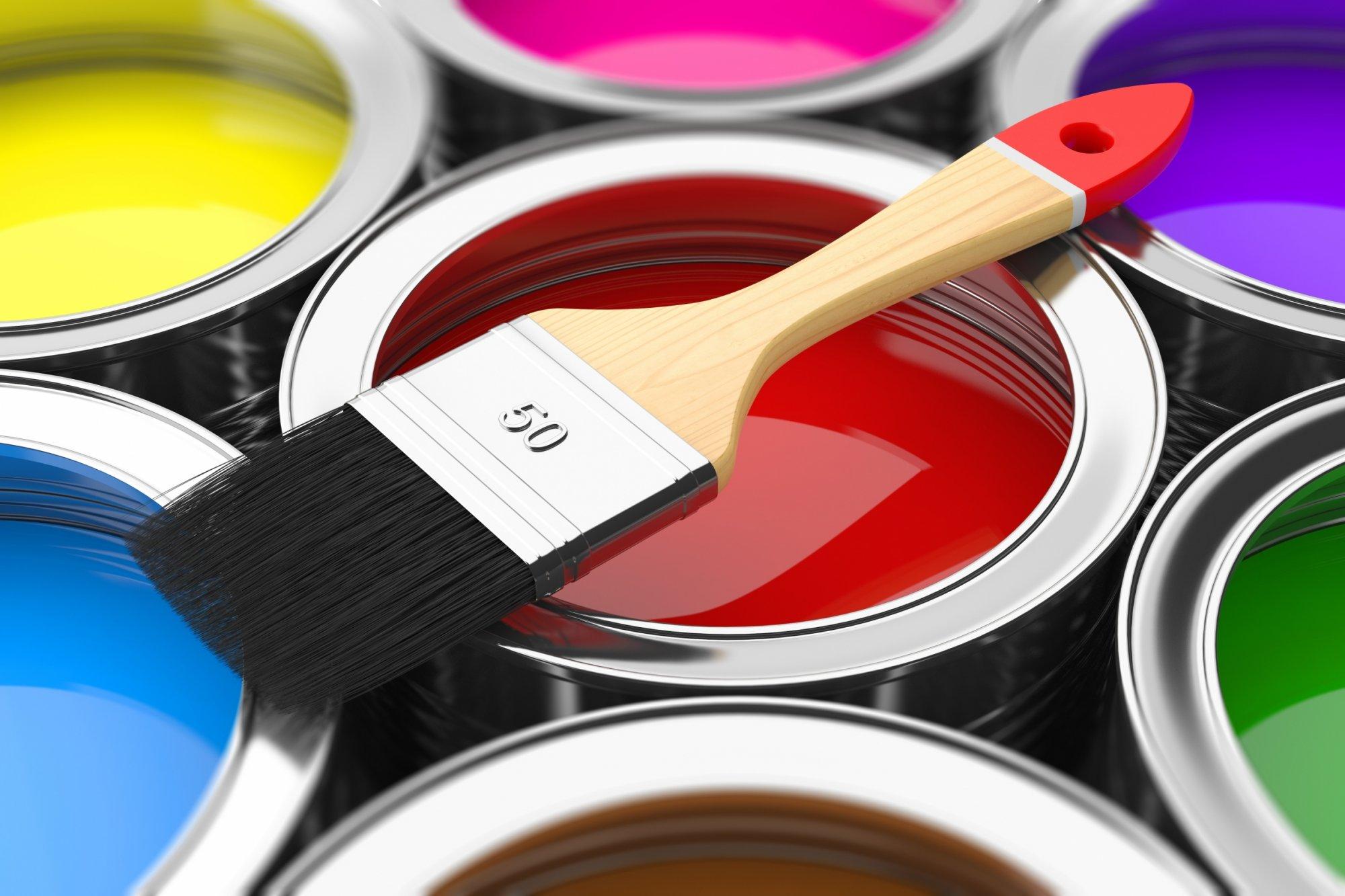 Фото банок с красками