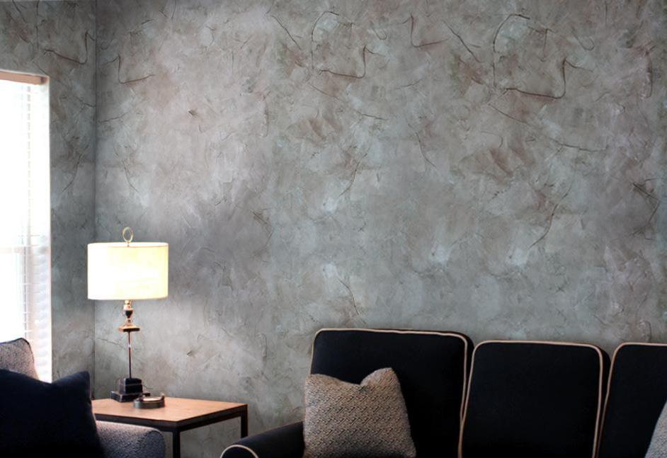 Декоративная штукатурка на стене