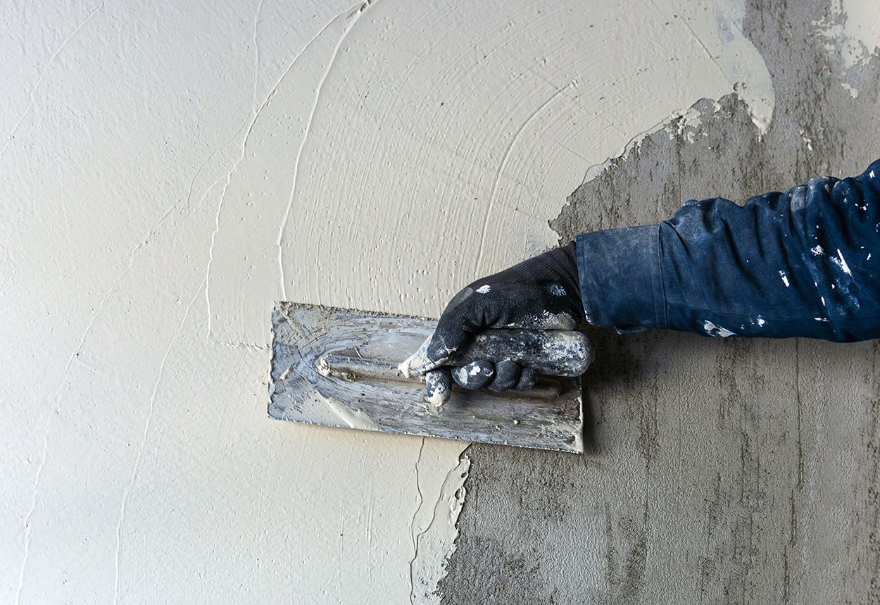 Штукатурка гипсовая на стене