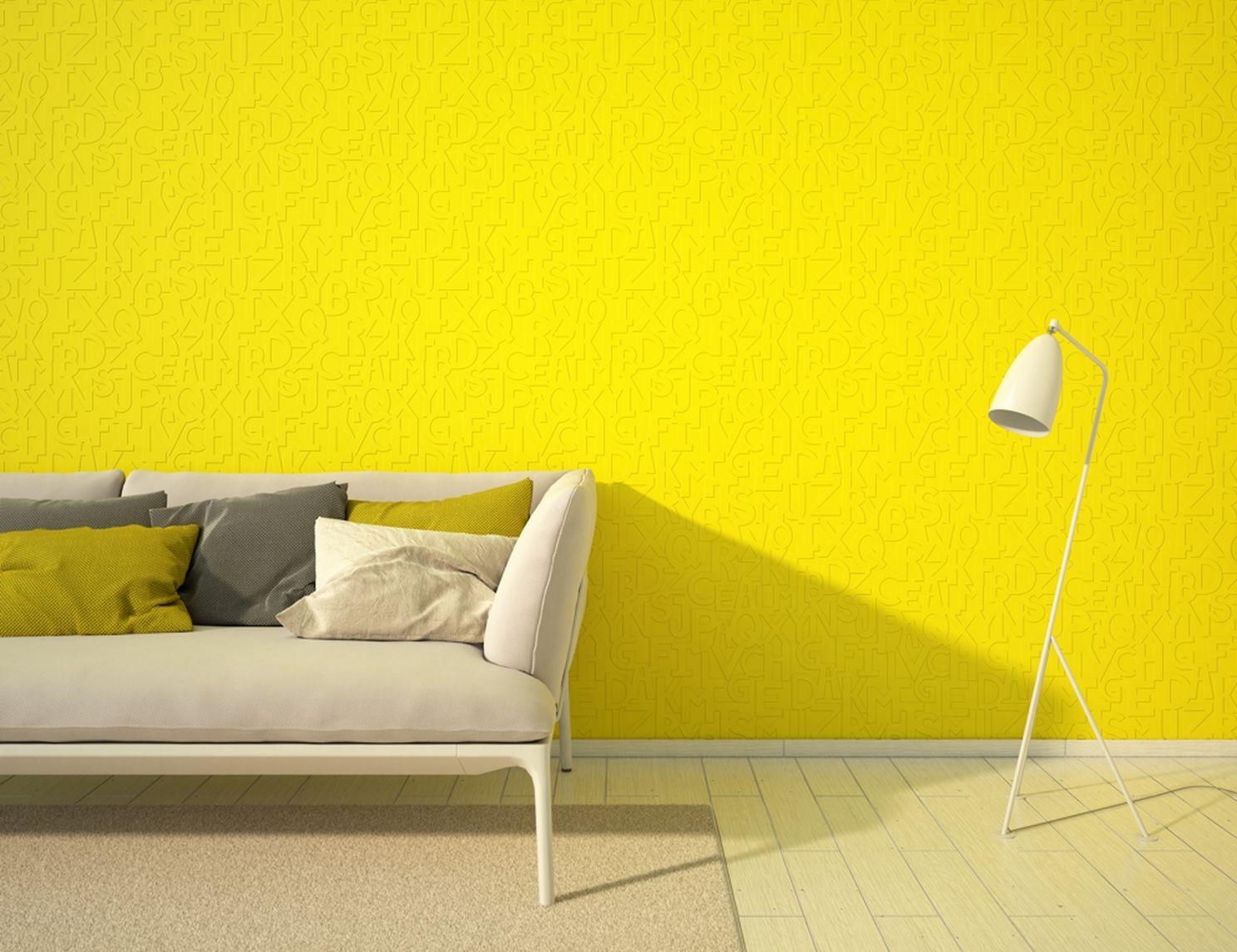Фото желтых флизелиновых обоев