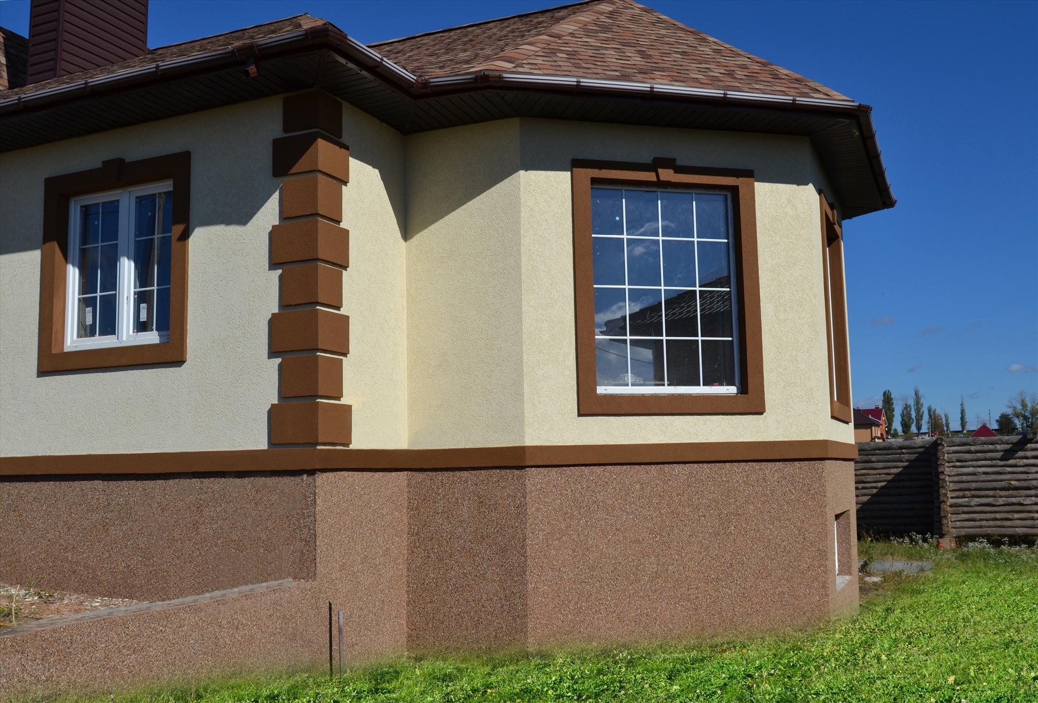 Фасад с силиконовой штукатуркой