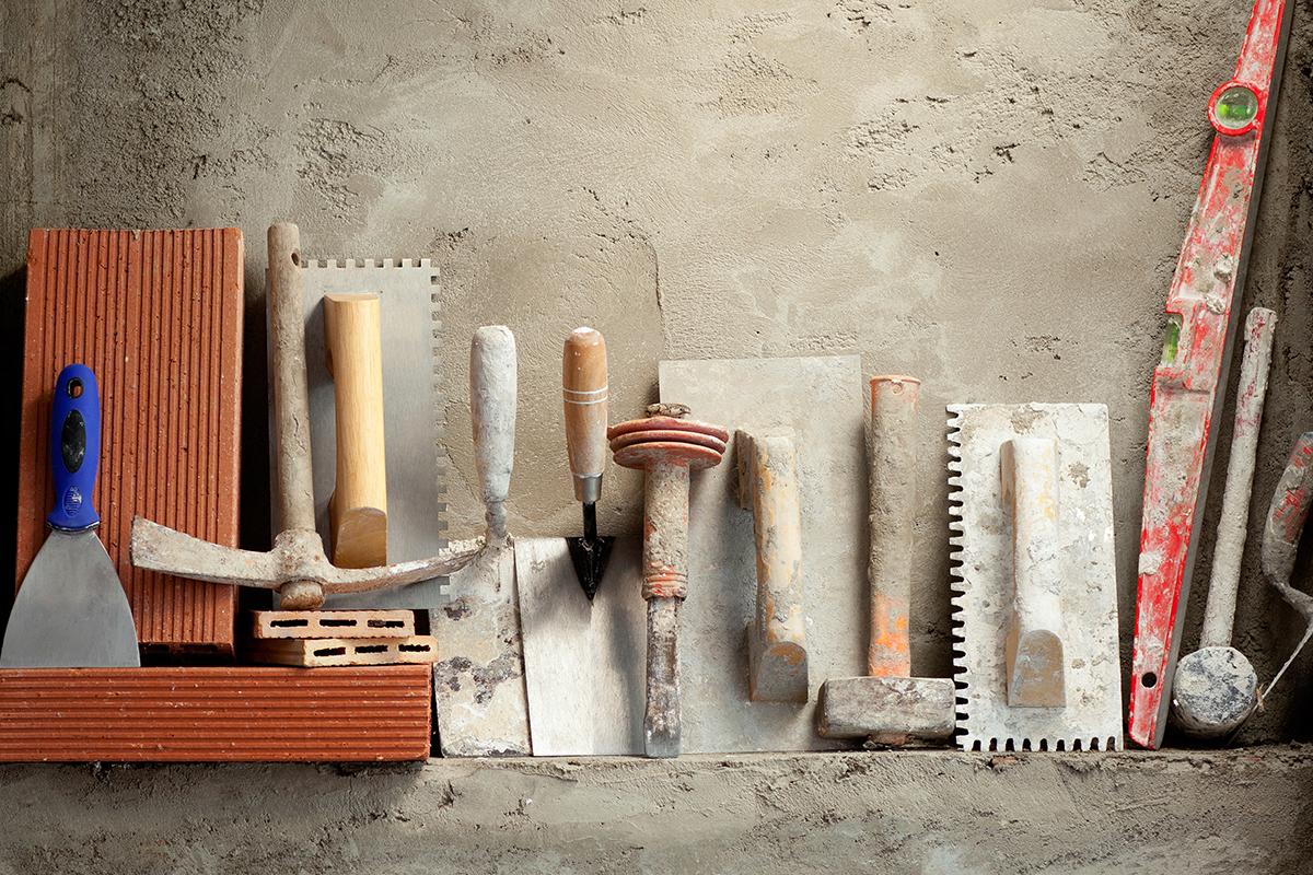 Фото инструментов для штукатурки