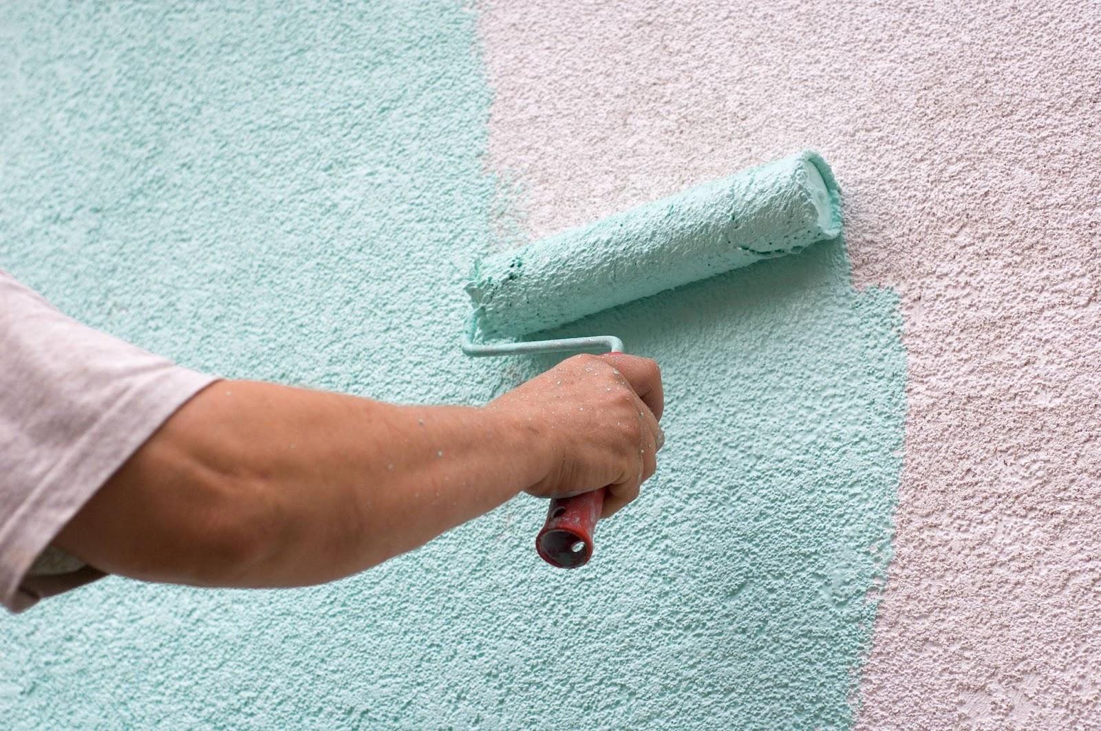 Покраска силиконовой штукатурки