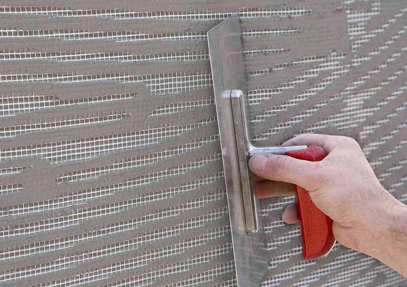 Шпаклевка стены с сеткой