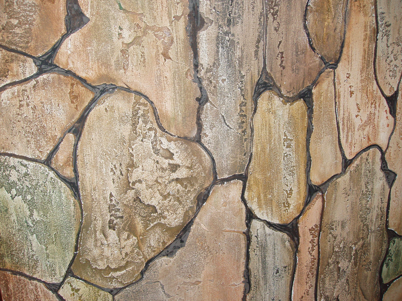 Плоская штукатурка под камень