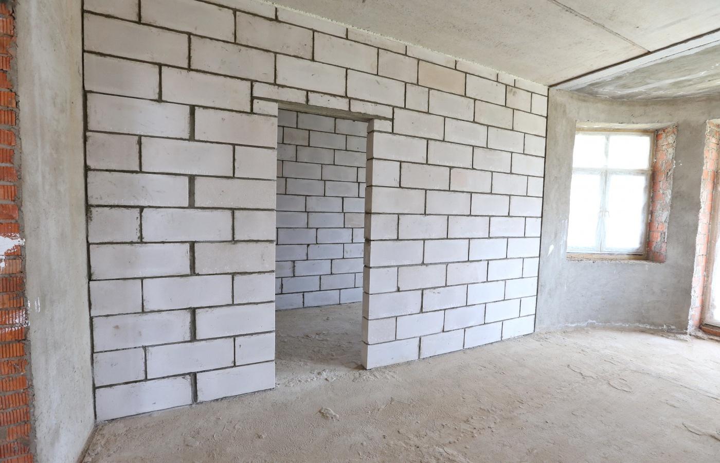 Стены из газобетона внутри