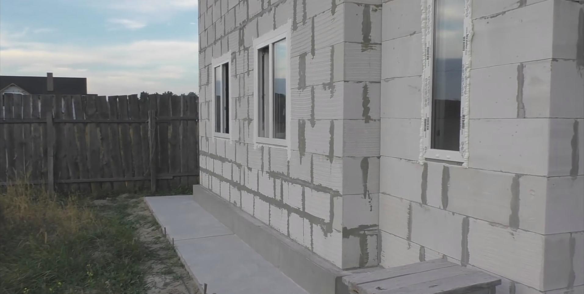 Фото стен из газобетона