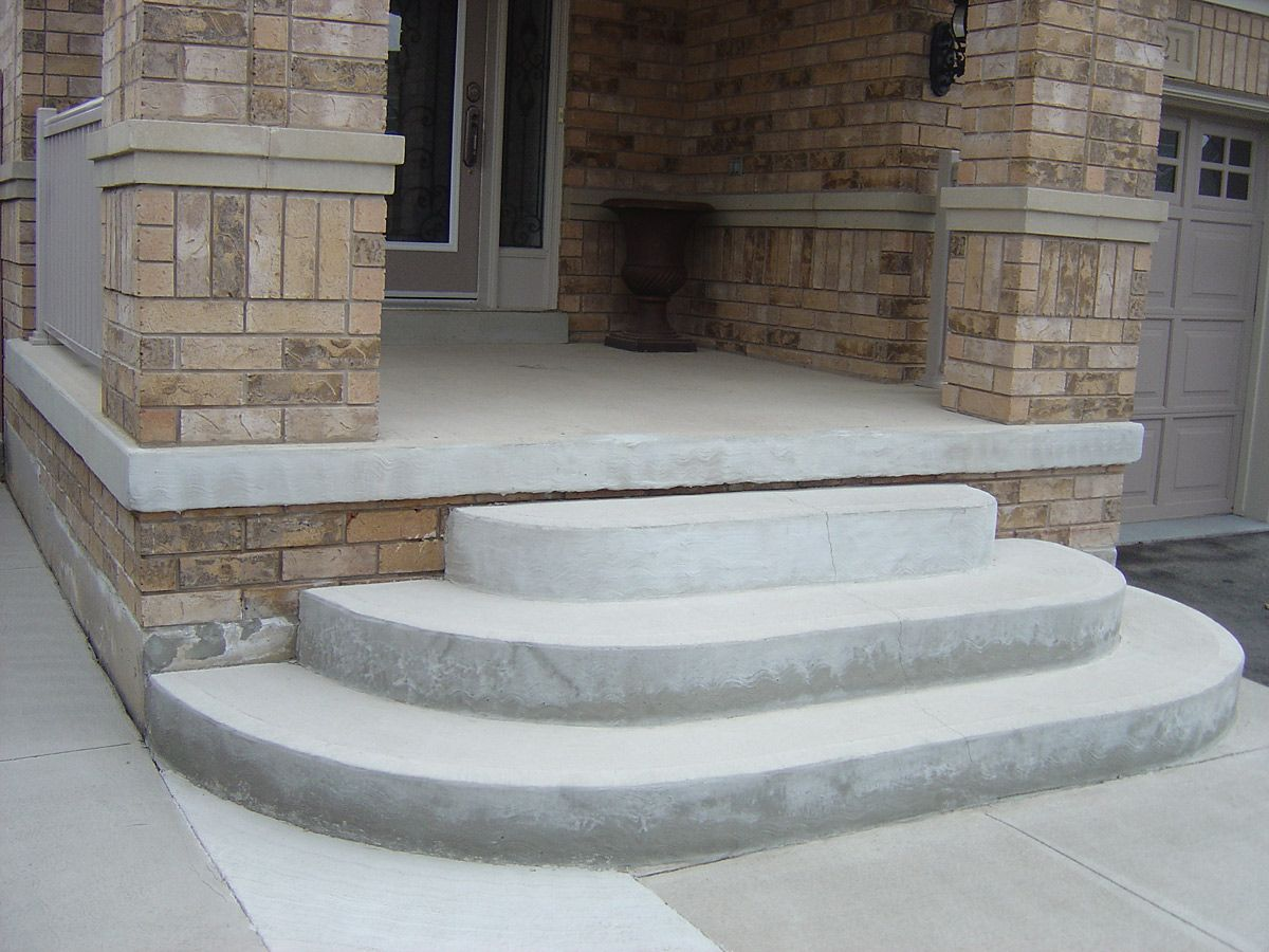 Фото бетонного крыльца