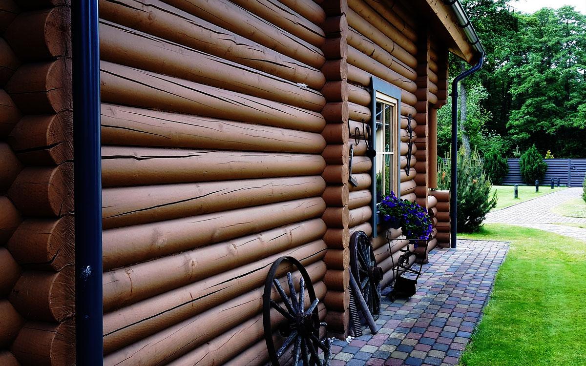 Фото деревянного фасада
