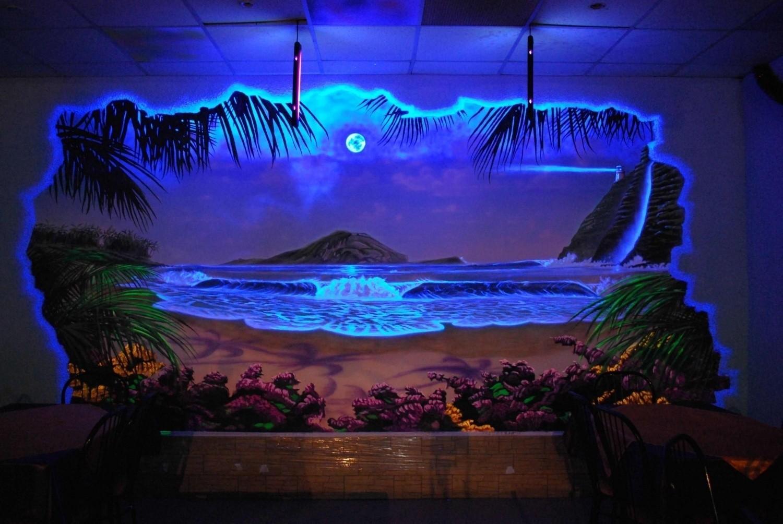 Фото флуоресцентной краски