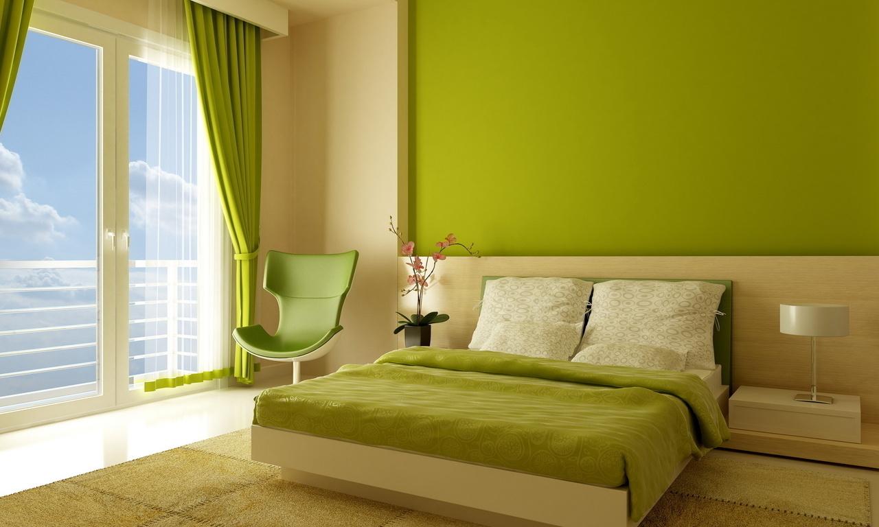 Комната с крашенными стенами