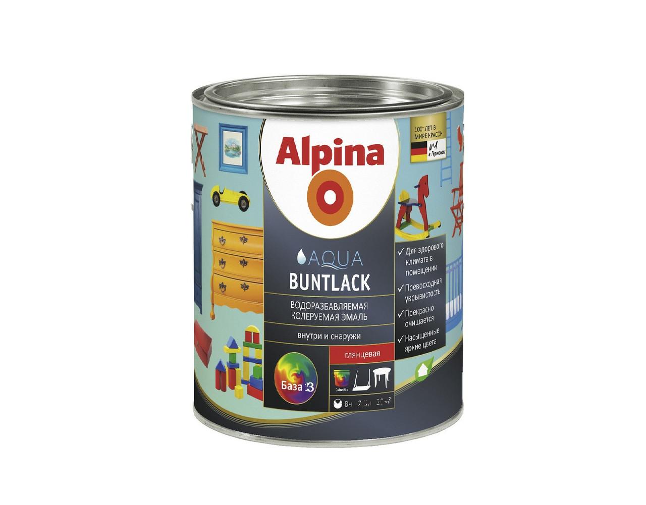 Фото краски Alpina Aqua Buntlack