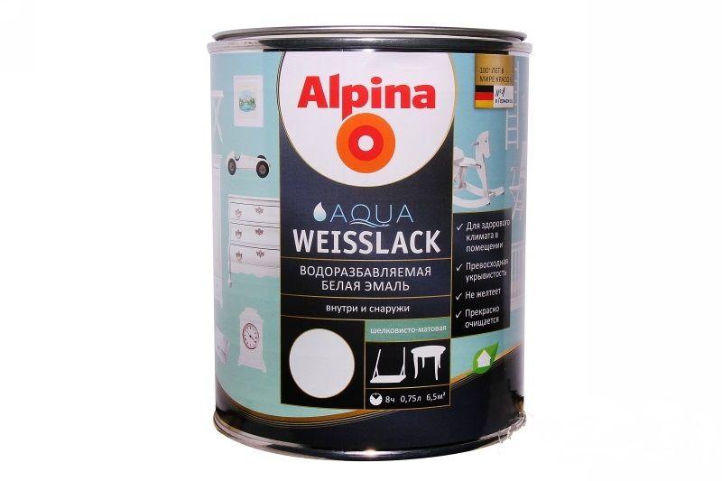 Краска Alpina Aqua Weisslack
