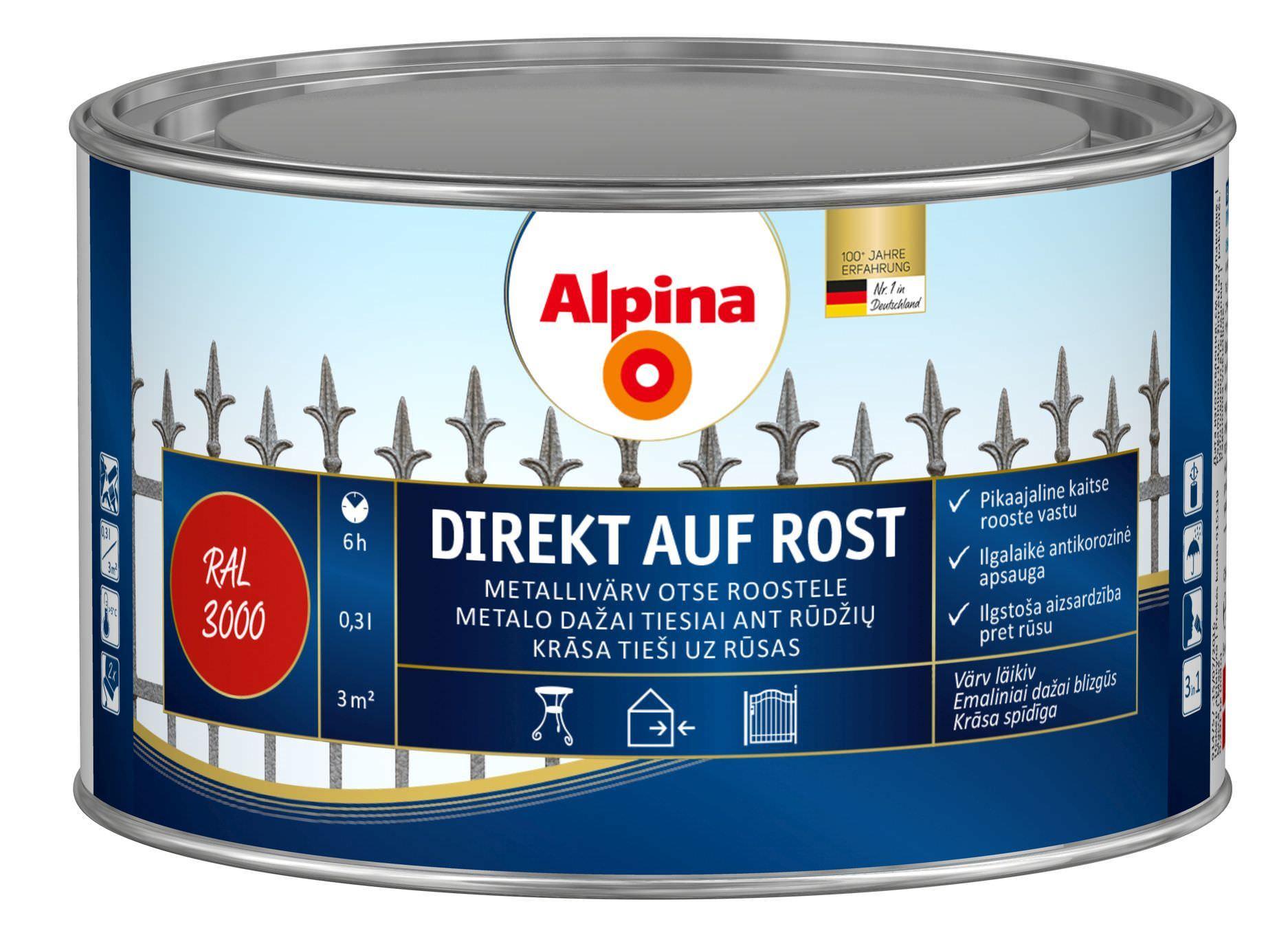 Краска Alpina Direkt auf Rost Hammerschlageffekt