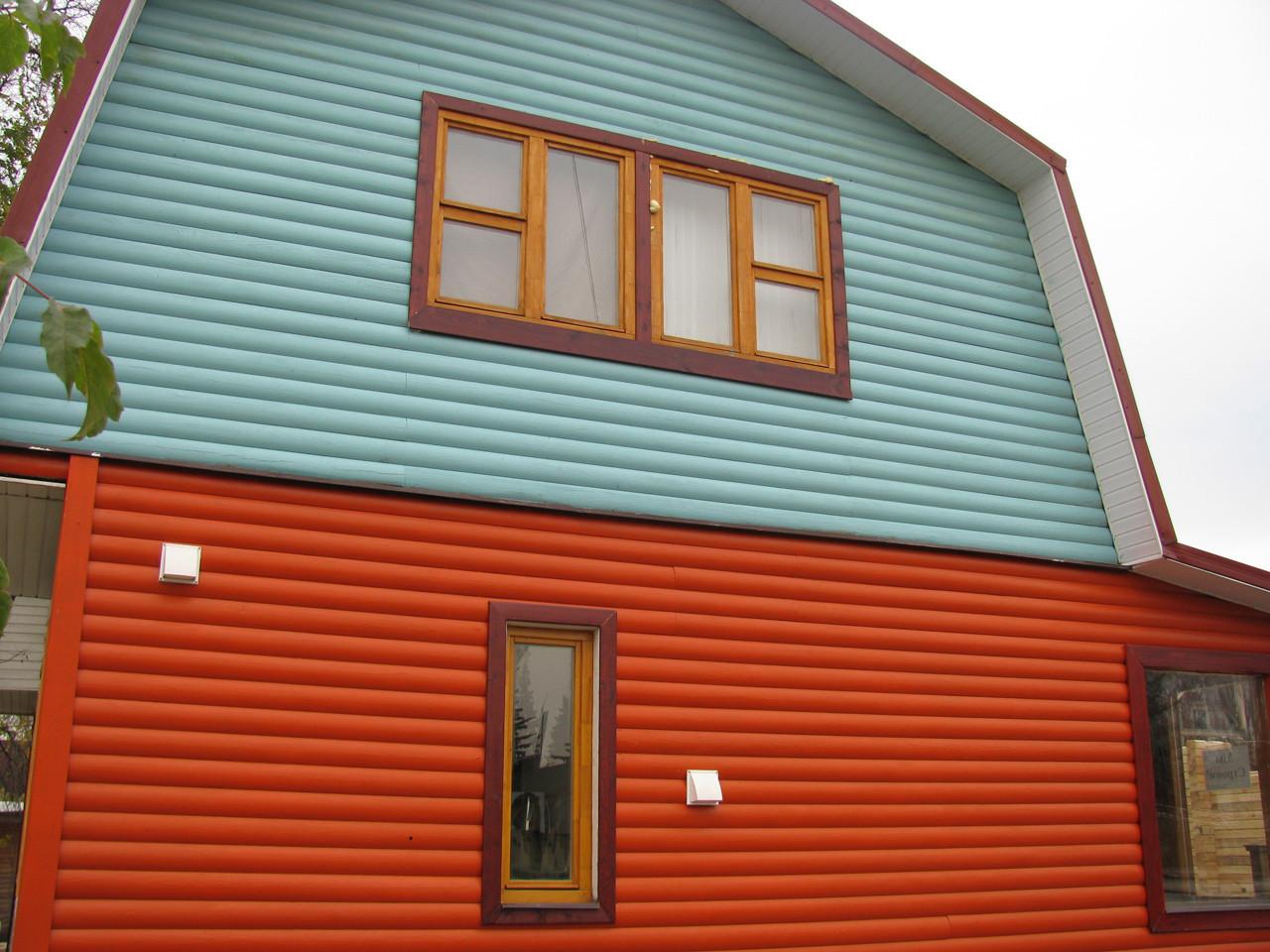 Краска на деревянном фасаде