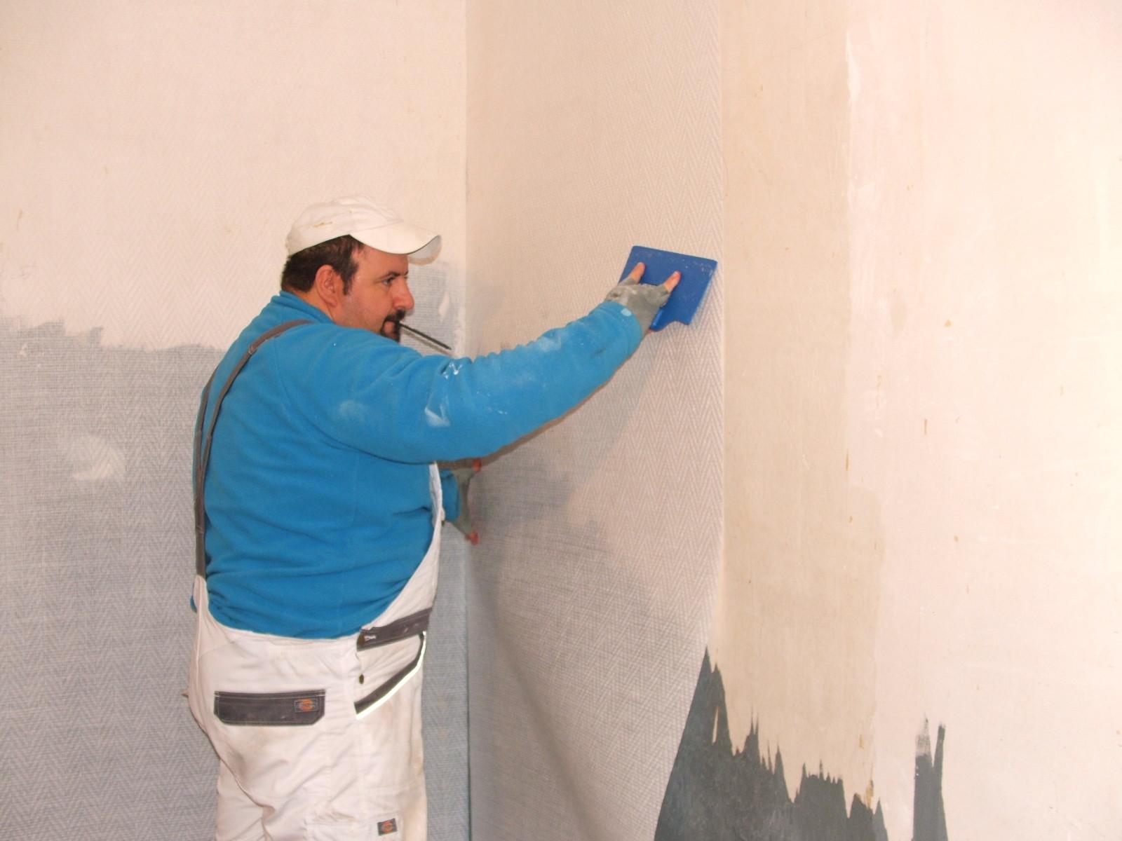 Крепление стеклохолста на стену