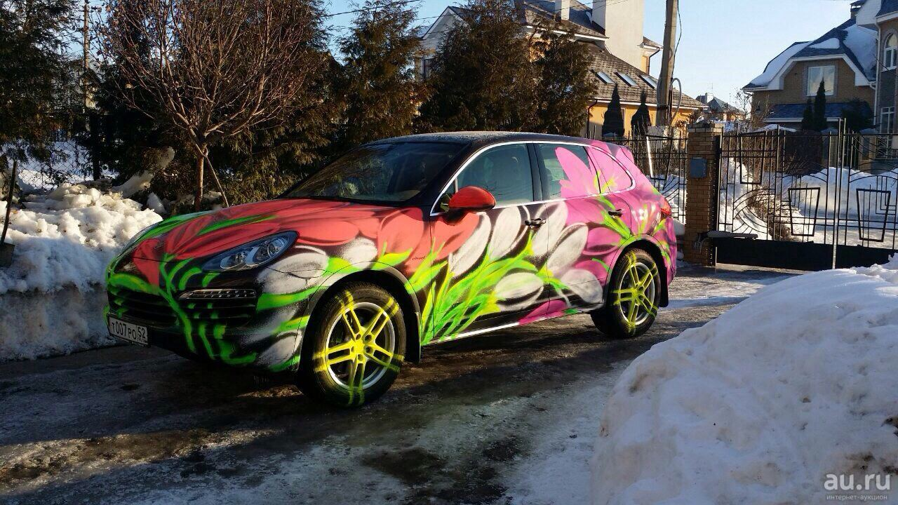 Меловая краска на машине