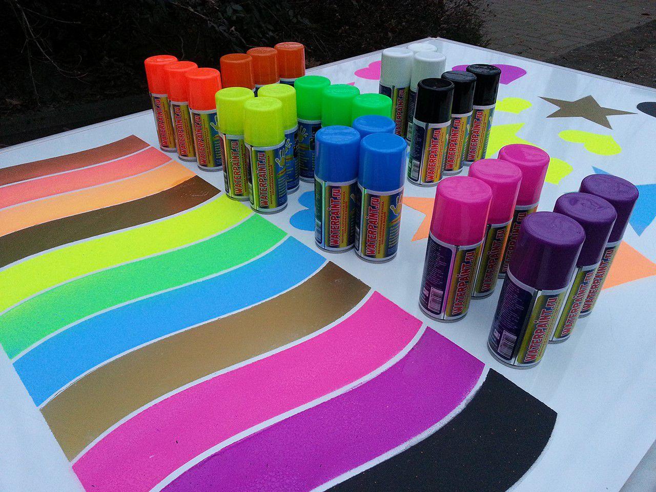 Фото меловой краски в баллончиках