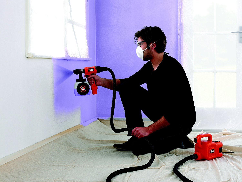 Нанесение краски распылителем