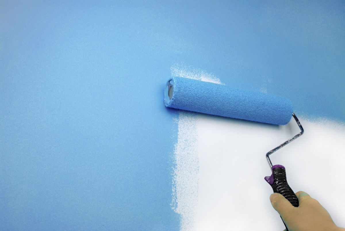 Нанесение силиконовой краски