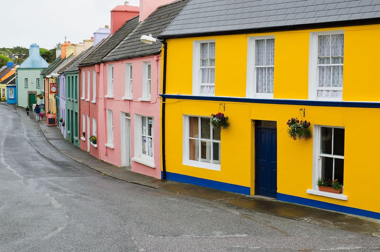 Окрашенные фасады домов