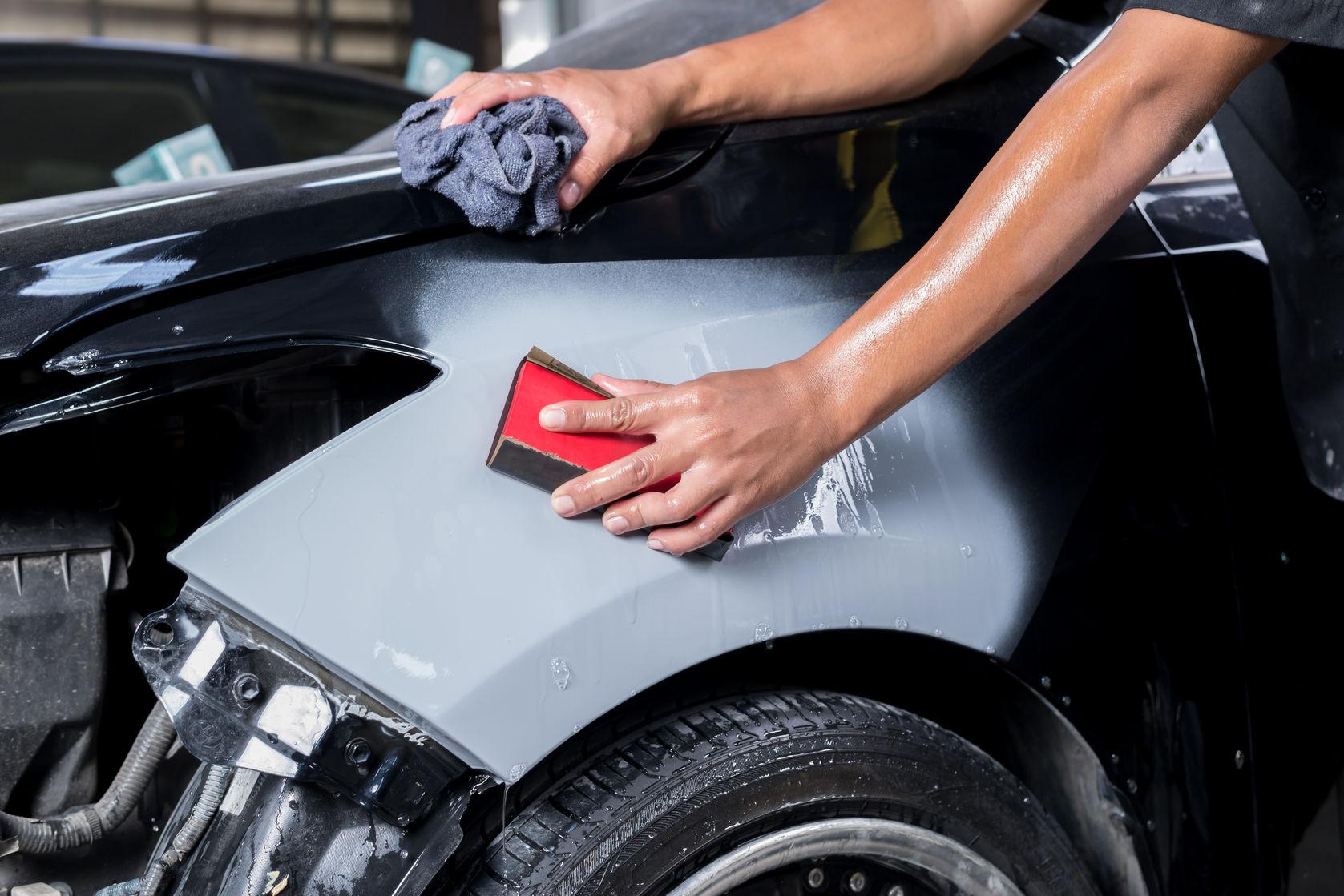 Подготовка машины к покраске