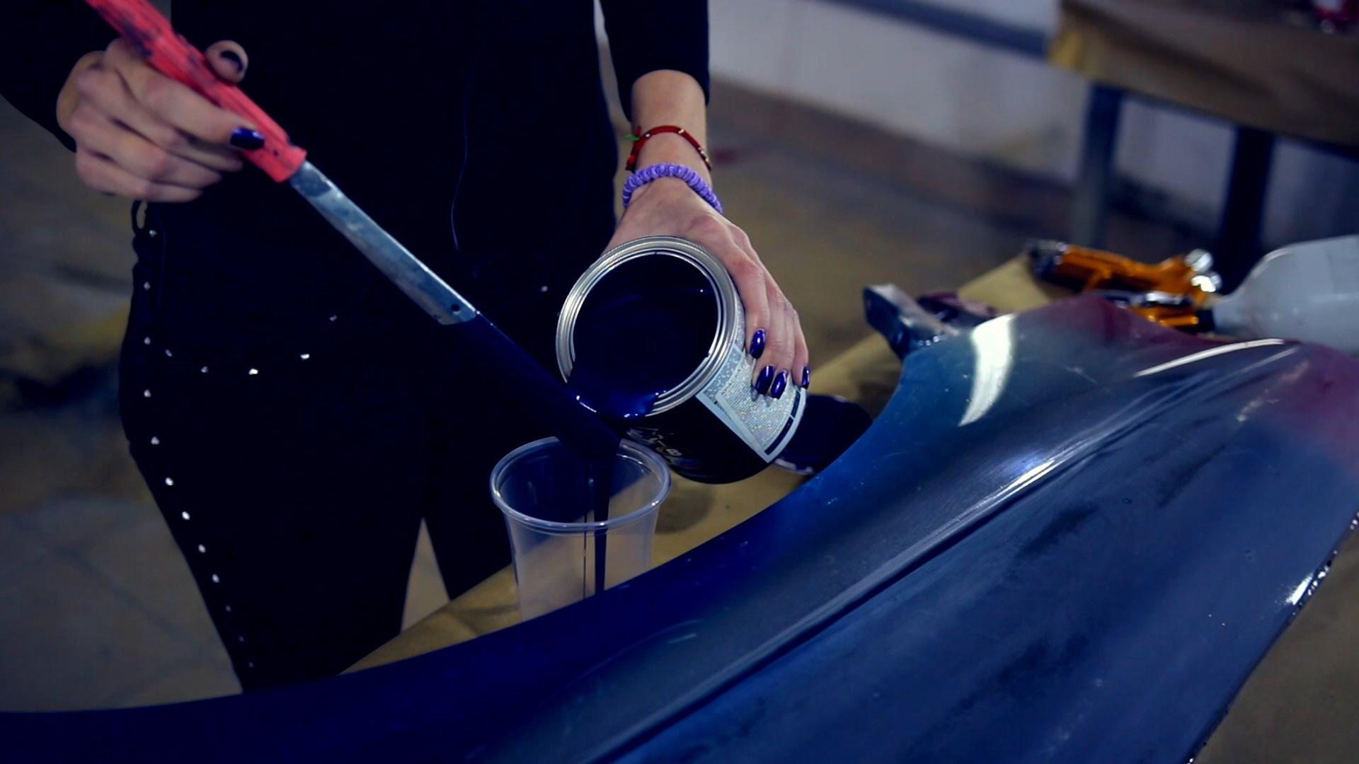 Покраска автомобиля эмалью