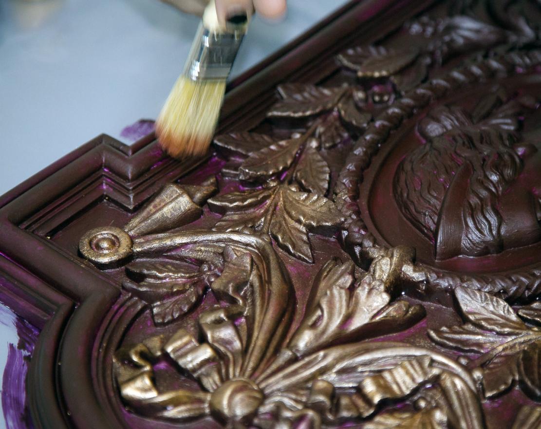 Покраска бронзовой краской