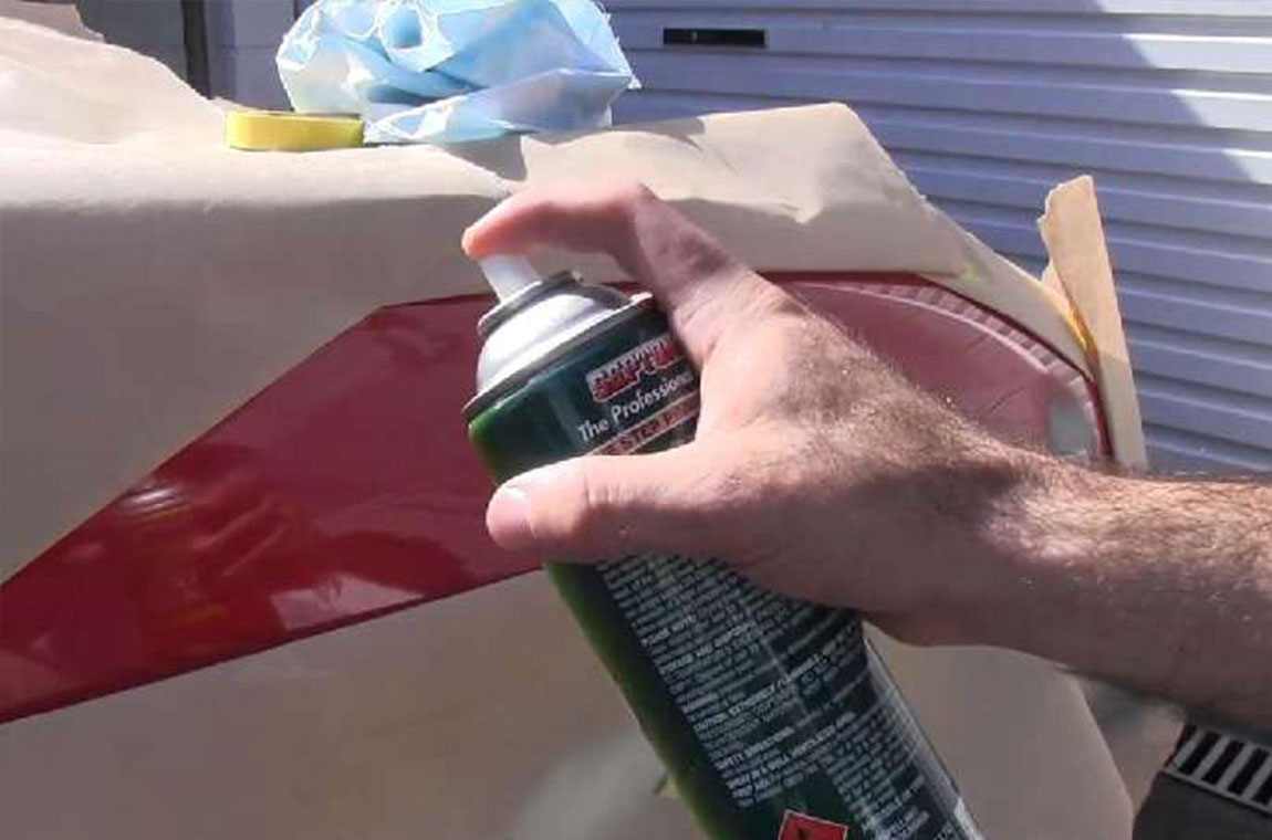 Покраска пластика баллончиком