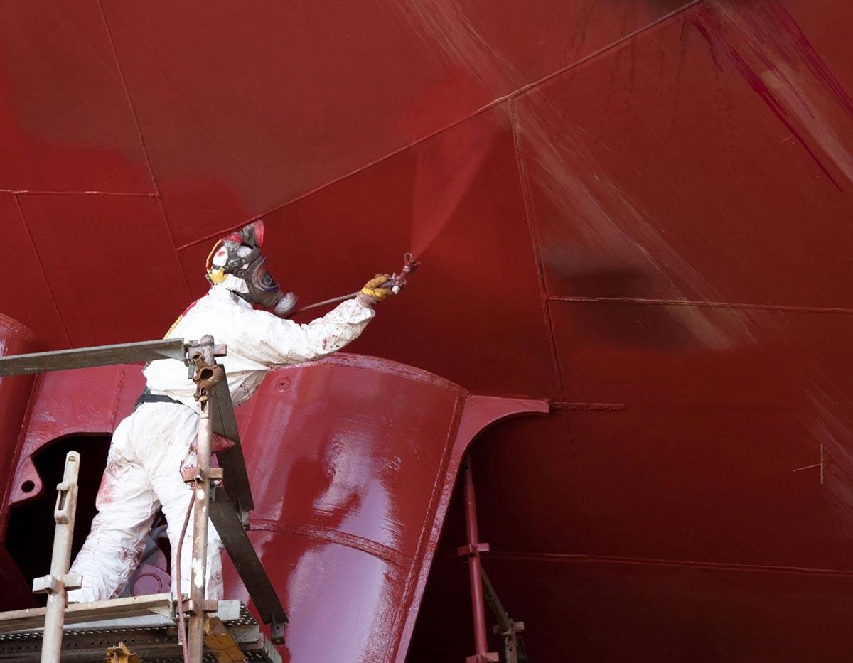 Покраска судна