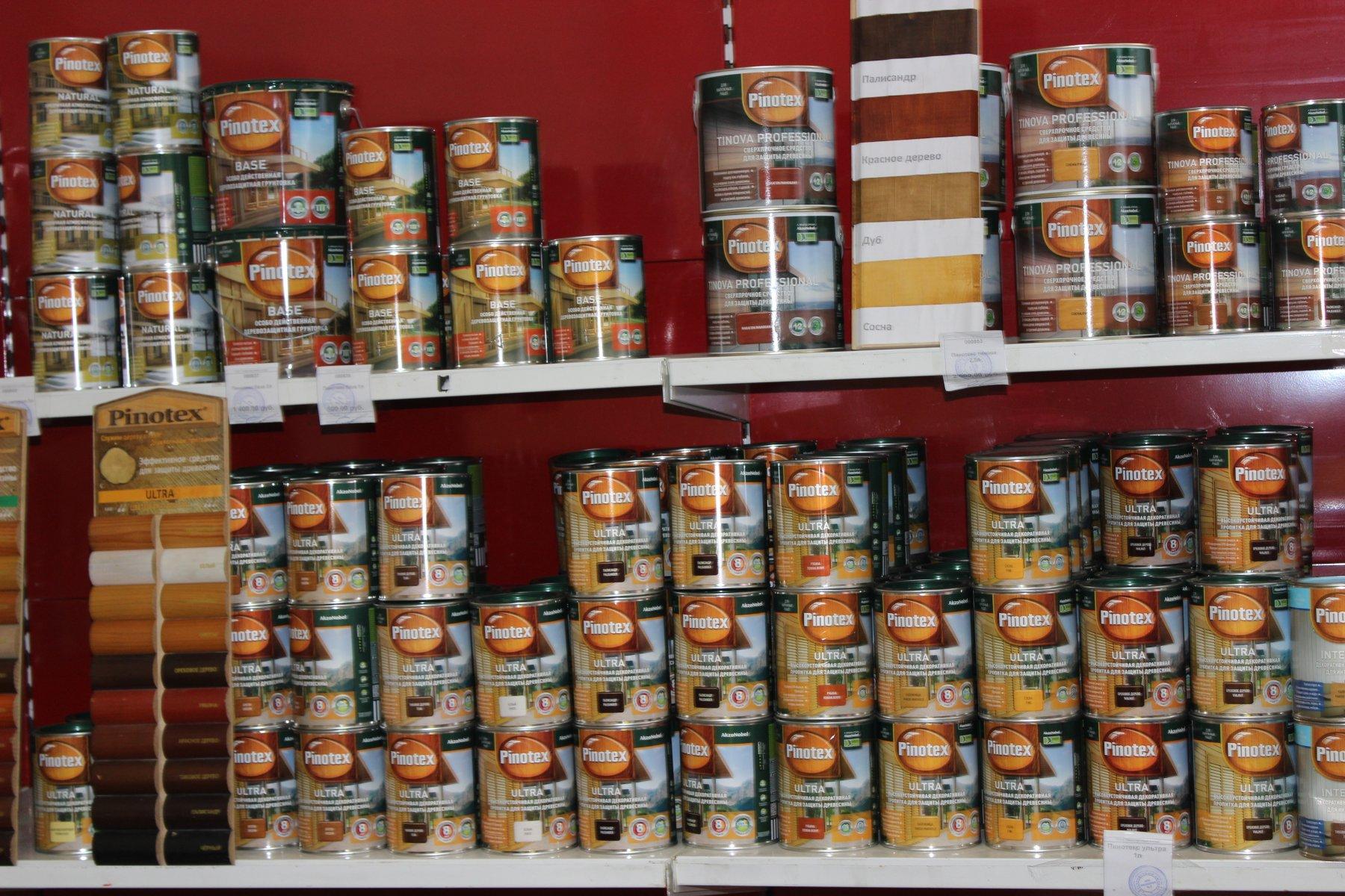 Продукция Pinoteks в магазине