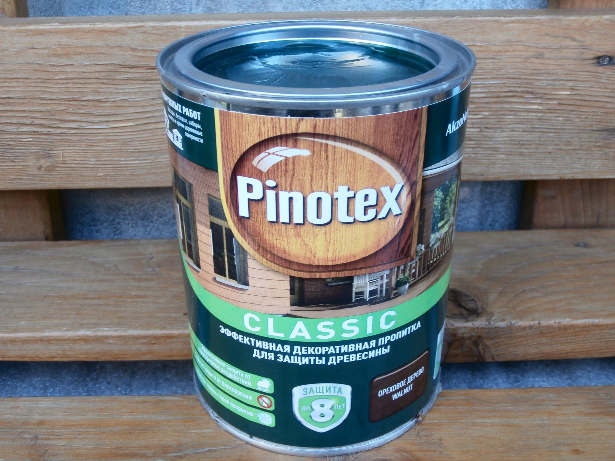 Фото пропитки Pinotex