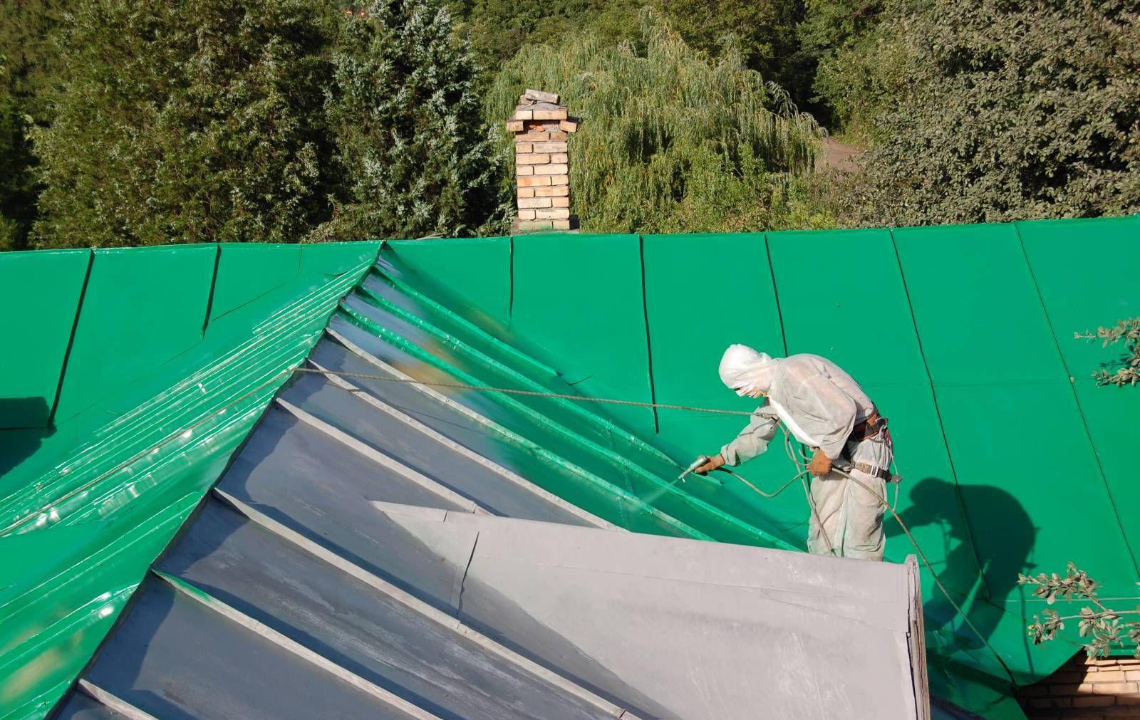 Резиновая краска на крыше