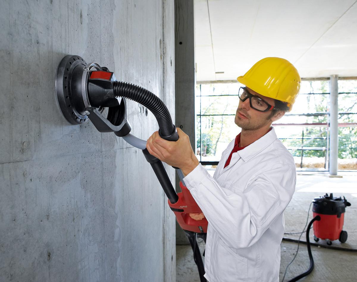 Шлифовка бетонной стены