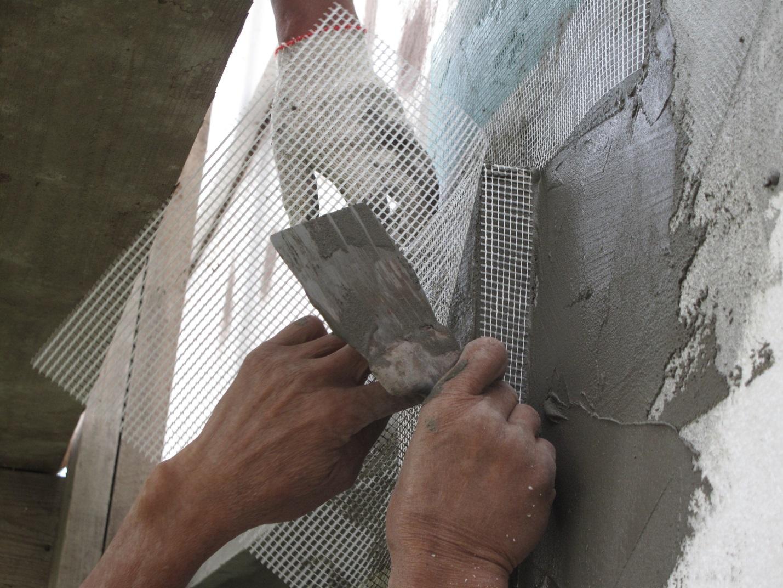 Сетка стеклотканевая на фасаде