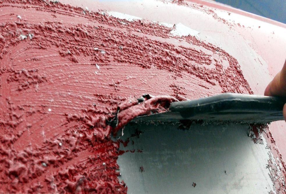 Смывка краски