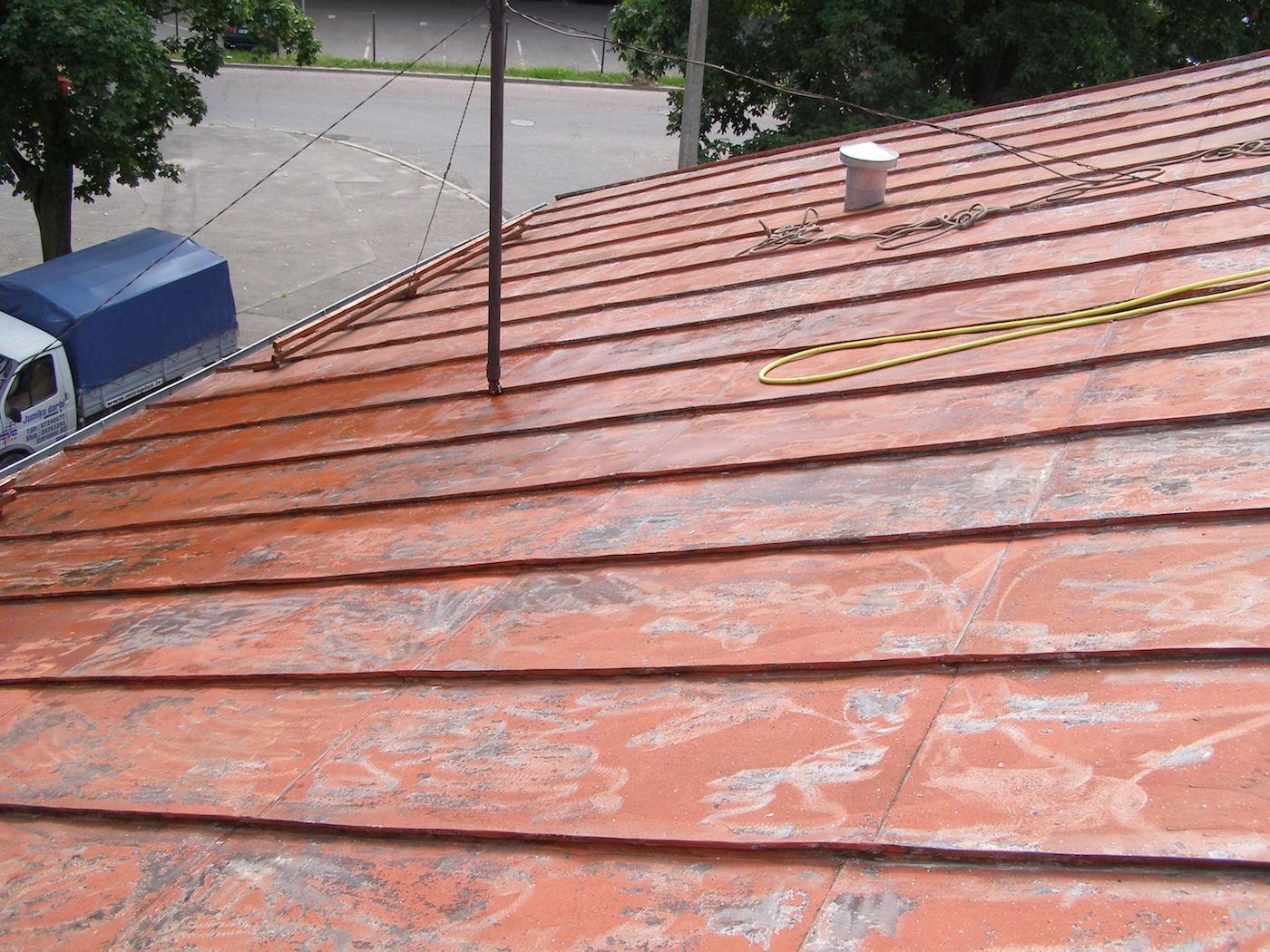 Старая металлическая крыша