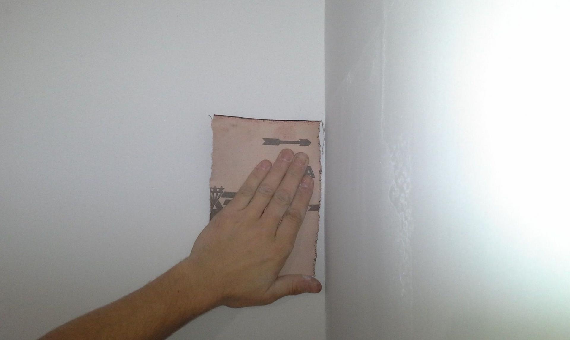 Затирка наждачной бумагой