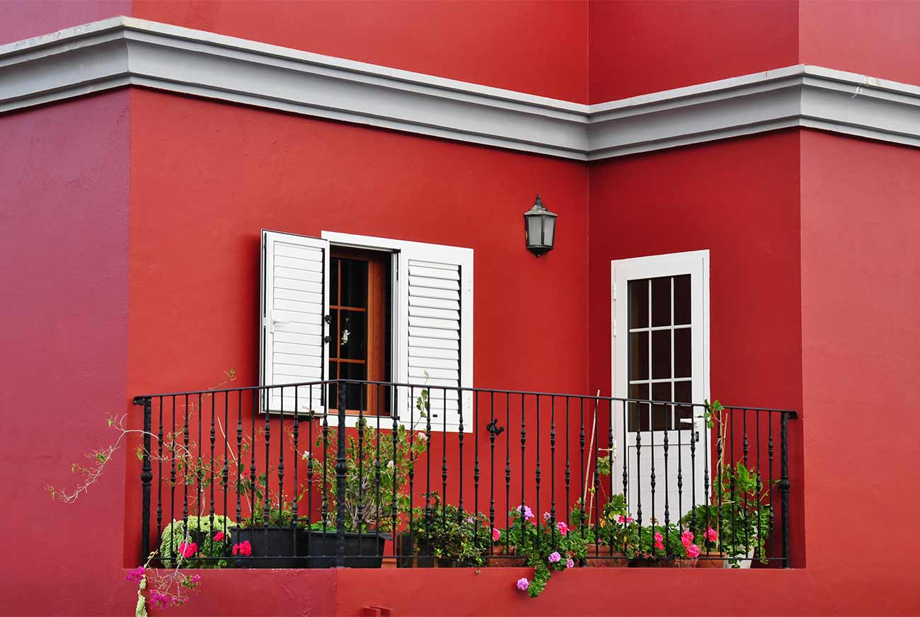 Фото крашенного фасада