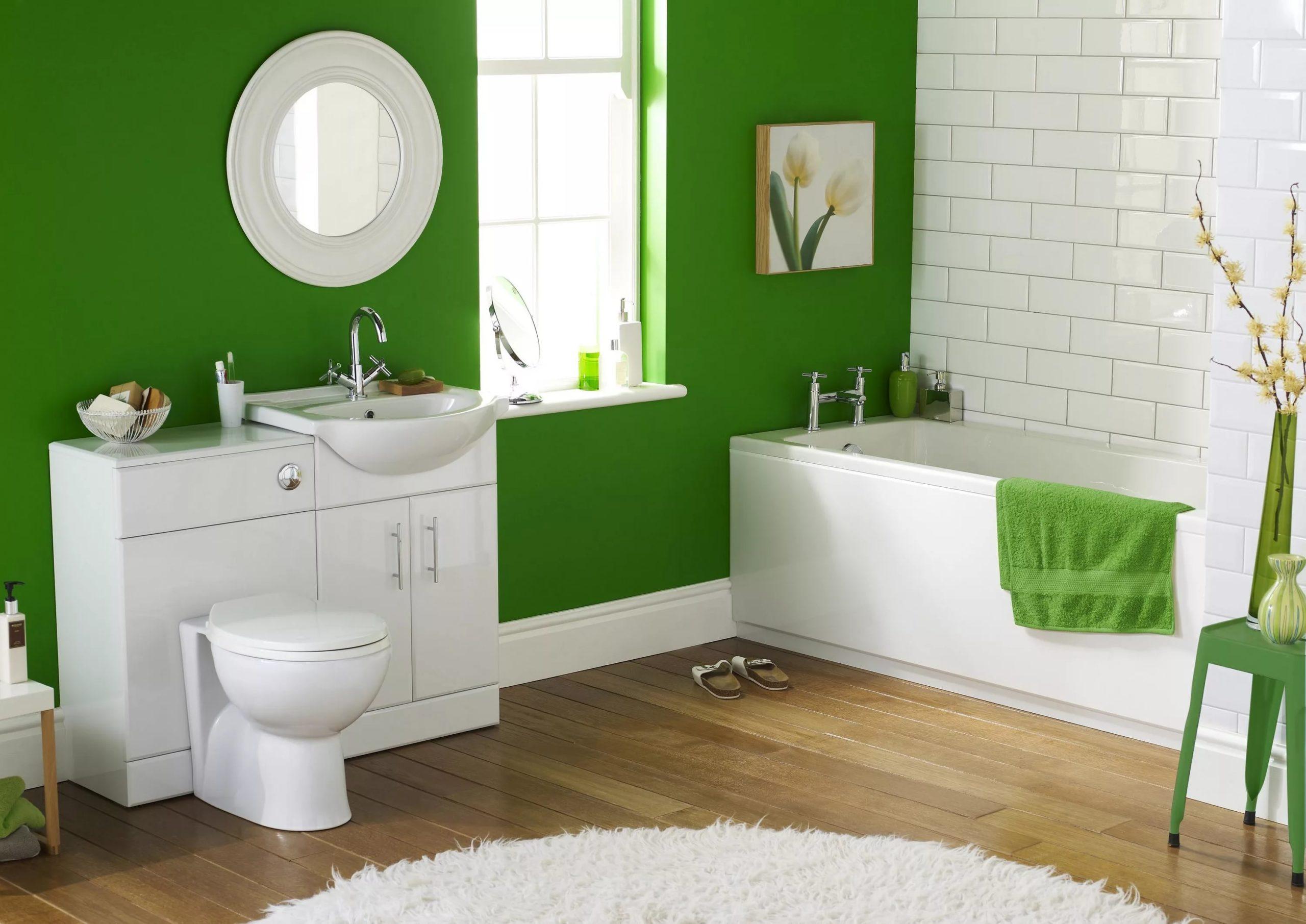 Фото крашенной стены в ванной