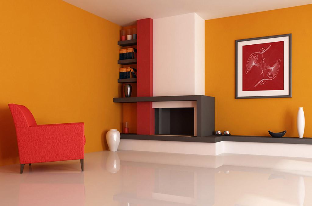 Фото оранжевых стен