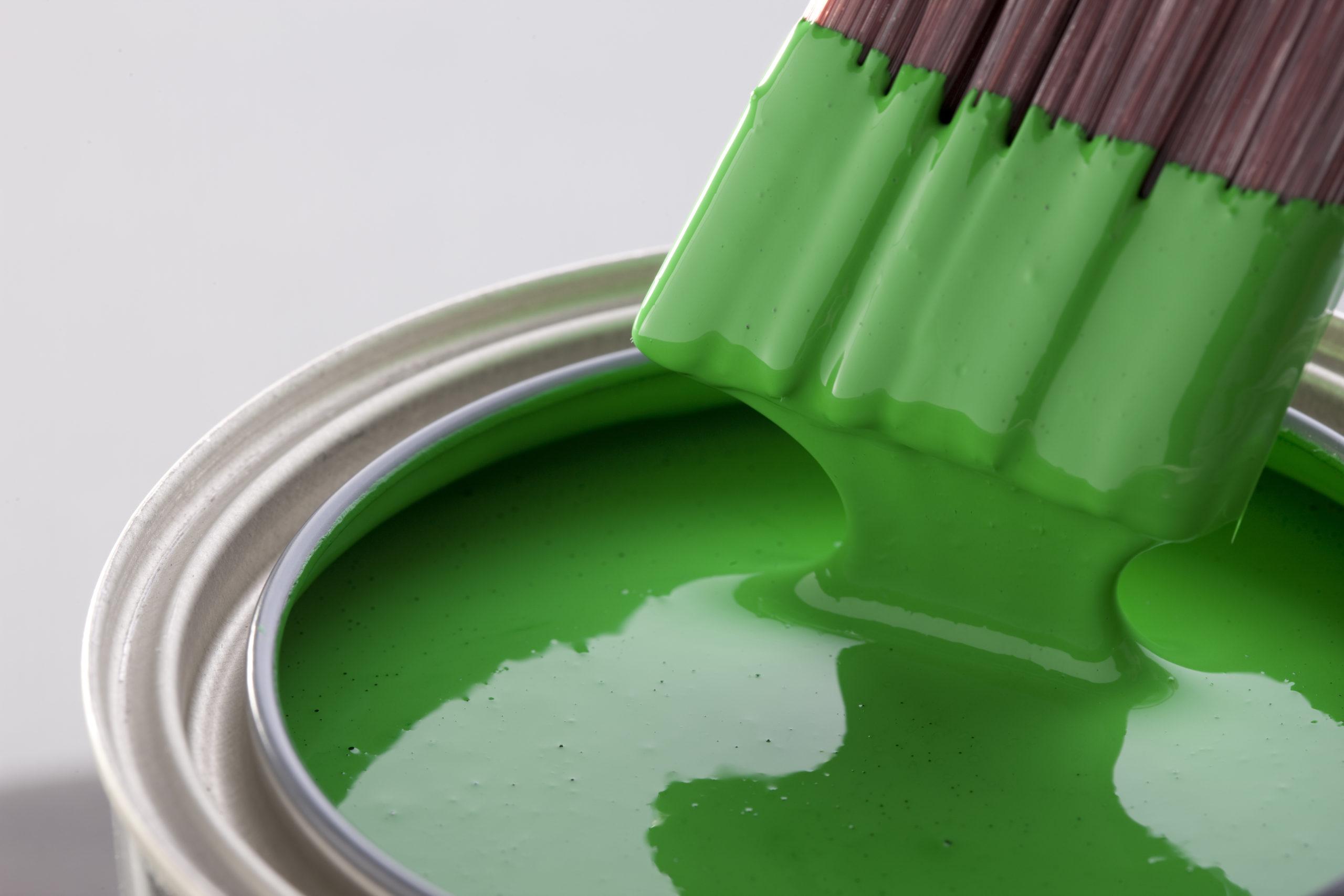 Фото зеленой краски