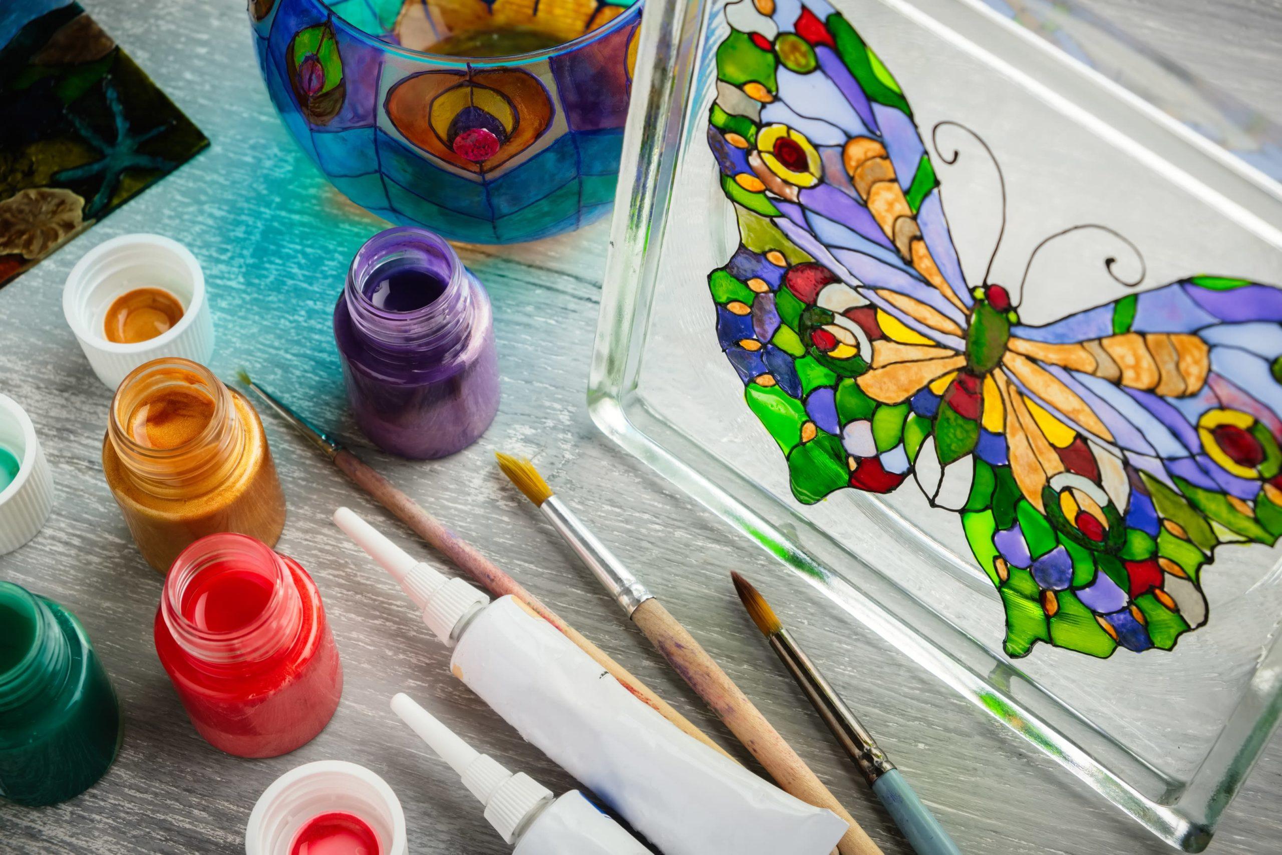 Краски для витражной росписи
