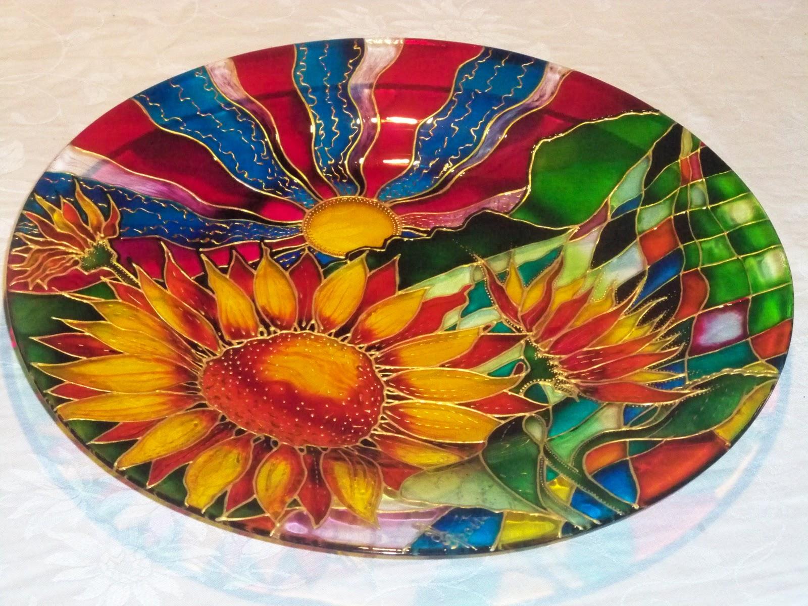 Фото тарелки с росписью