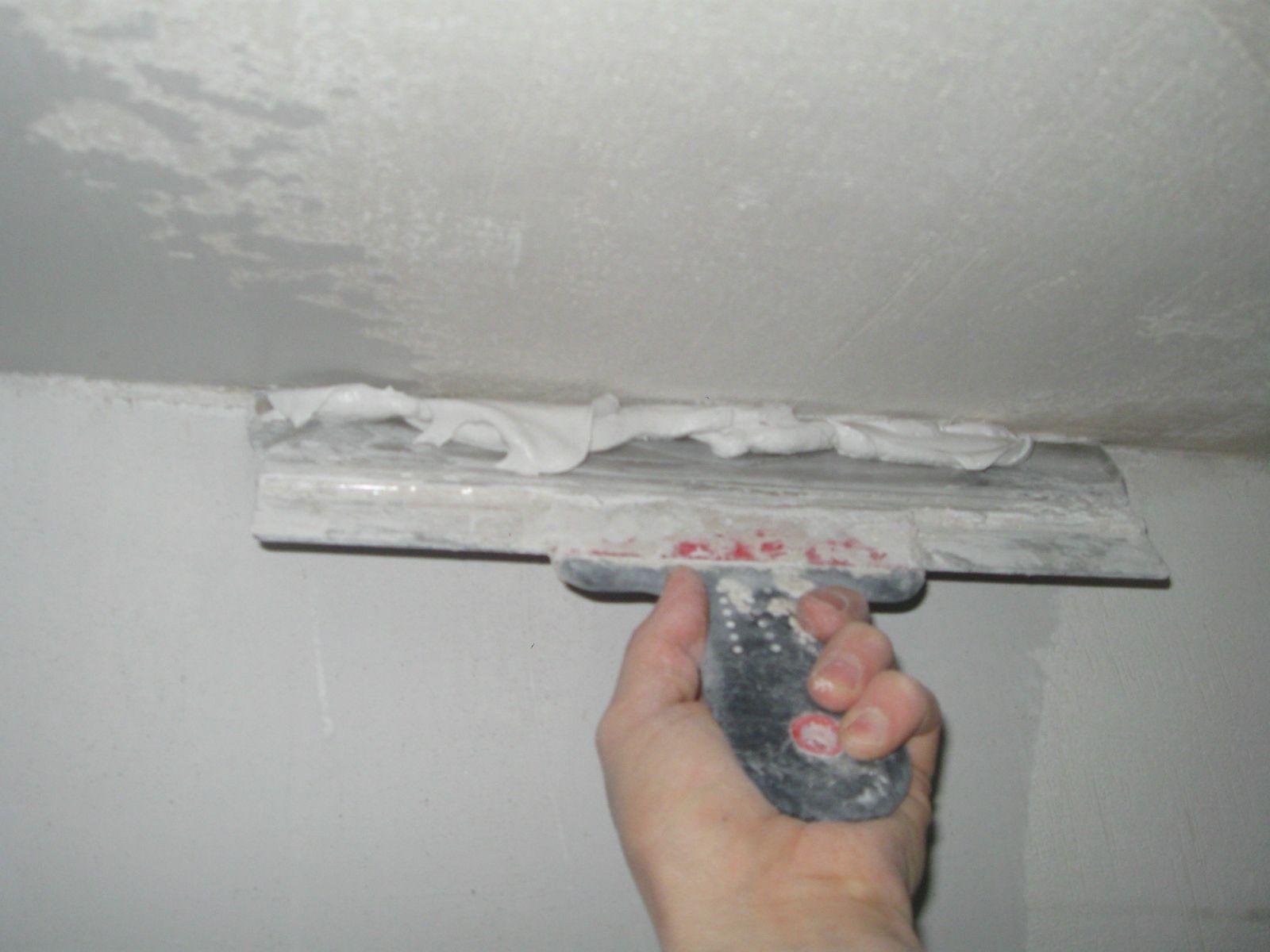 Гипсовая шпаклевка на потолке