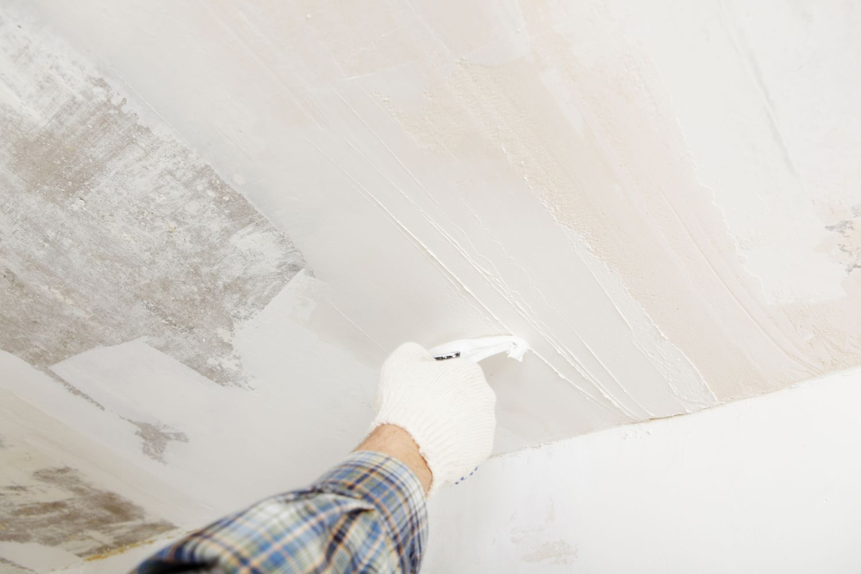 Фото шпаклевки потолка