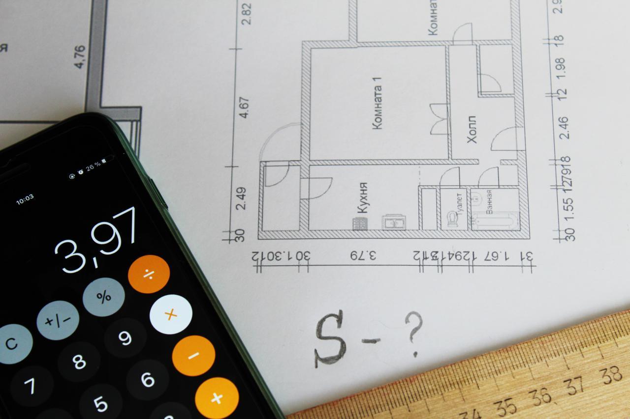Вычисление площади комнаты