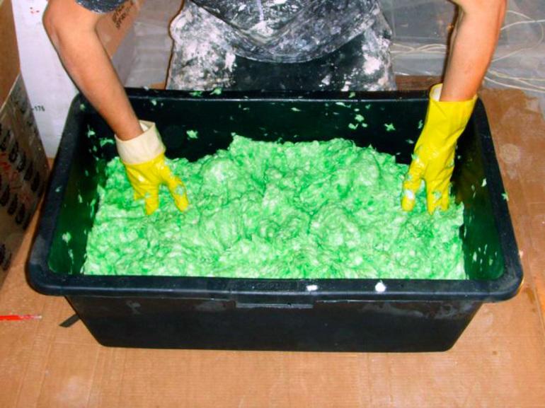 Зеленые жидкие обои