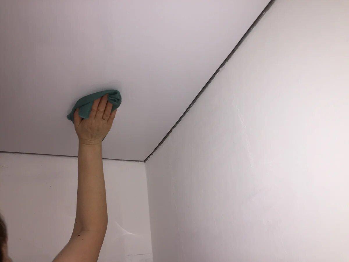 Фото мытья потолка