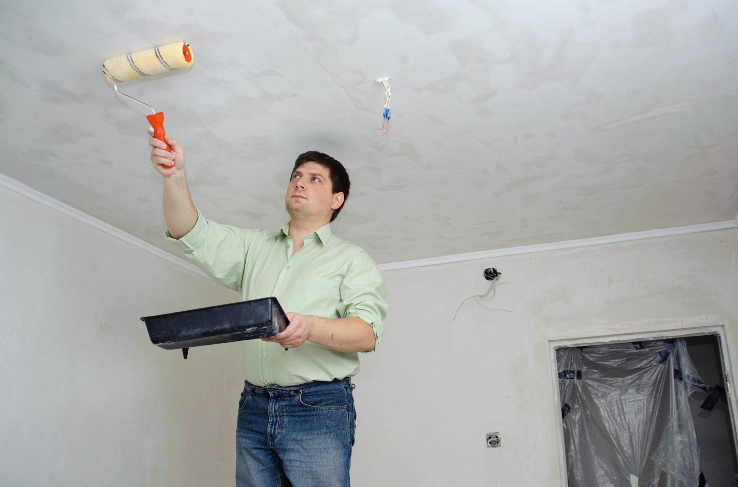 Отбеливание потолка